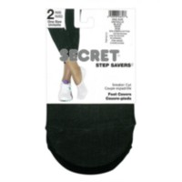 SECRET 2pr Sneaker Foot Cover  Black