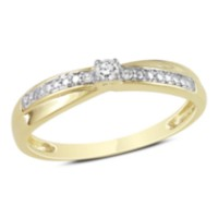 Miabella 0.05 Carat Total Weight Diamond Promise Ring in 10 KT Yellow Gold (J-K-L; I2-I3) 9