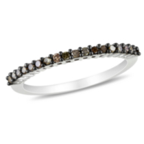 0.20 Carat Total Weight Brown Diamond Eternity Ring in 14 KT White Gold 5