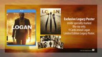 Logan (Blu-ray + DVD + Digital HD) (Walmart Exclusive - Limited Edition Legacy Poster inside specially marked Blu-ray only.  9 Collectible Cards reveal Logan Limited Edition Legacy Poster.)