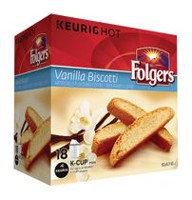 Folgers Vanilla Biscotti K-Cup Coffee Pods
