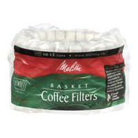 Melitta Basket Coffee Filters - 100 Filters, 10-12 cups