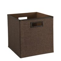 Linen Fabric Bin - Brown
