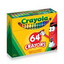 Crayola - Crayons de couleur - 64 ct