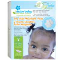 Mabu Baby Eco-Diaper System Washable Diaper Pads Size 2