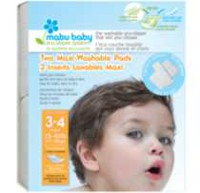 Mabu Baby Eco-Diaper System Washable Diaper Pads Size 4