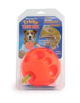 Omega Paw Small 2.8-inch Tricky Treat Ball Dispensing Dog Toy
