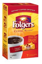 Folgers Classic Roast Instant Coffee Packets