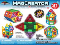 Cra-Z-Art MagCreator Magnetic Construction Building Set 31 Pieces