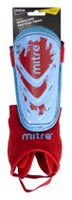 Mitre Mayan Pee Wee Blue/Red Shin Guard