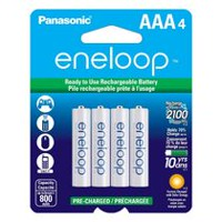 Panasonic eneloop AAA Ni-MH Pre-Charged Rechargeable Batteries - 4 Pack