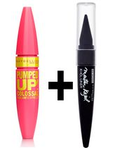 Maybelline Colossal Pumped Up + Kajal Eyeliner Gwp Blackest Black Very Black