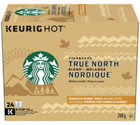 Dosettes K-Cup de café moulu True North Blend de Starbucks à torréfaction blonde