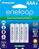 Panasonic eneloop AAA Ni-MH Pre-Charged Rechargeable Batteries - 8 Pack