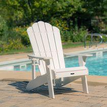 Island Retreat White Adirondack Chair