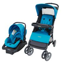 Cosco Juvenile Lift & Stroll Baby Travel System Peacock