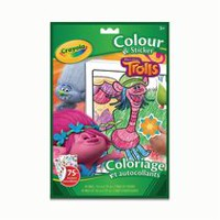 Crayola Trolls Colour and Sticker Book