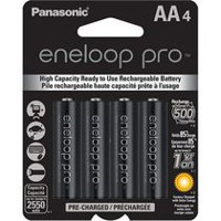 Panasonic eneloop pro AA Pre-Charged Rechargeable Batteries - 4 Pack