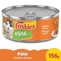 Purina® Friskies® Pate Chicken Dinner Cat Food 156g Can