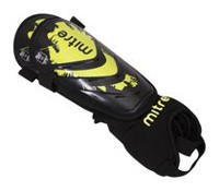 Mitre Mayan Adult Black/Green Shin Guard