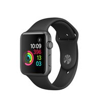 Apple Series-1 42 mm Space Grey Aluminum Case with Black Sport Band Watch