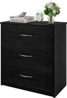 Dorel Cameron 3 Drawer Dresser, Black Oak Finish