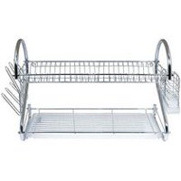 Better Chef DR-22 2-Tier Dish Rack, 22-Inch, Chrome