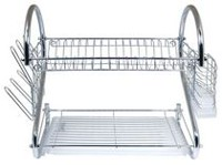 Better Chef DR-16 2-Tier Dish Rack, 16-Inch, Chrome