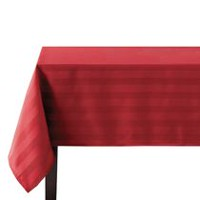 hometrends Microfiber Stripe Tablecloth 52 in  x 70 in