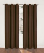 Eclipse Chino 40X84 Chocolate Panneau Avec Ceillets