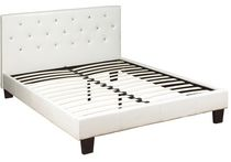 Worldwide Homefurnishings Diamond Bed Queen White