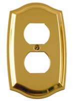 Atron Electro Industries Colonial Brass Duplex Wall Plate