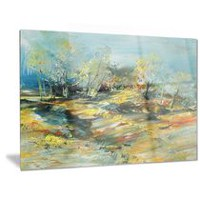 Design Art Abstract Landscape Abstract Metal Wall Art 30in x 40in