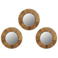 hometrends 3 Piece Wood Circle Mirror Set