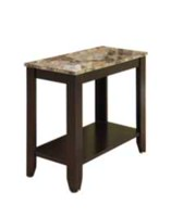 Monarch Specialties Cappuccino/Marble Top Accent Table