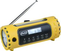Freeplay Tuf Solar & Crank AM/FM/SW Rechargeable Radio with LED Light