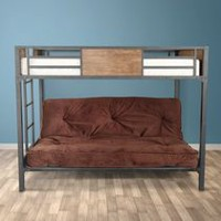 Primo International Fletcher Twin Bunk Bed with Futon