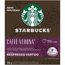 Capsules Starbucks Caffè Verona pour Nespresso Vertuo 8 unités (100 g)
