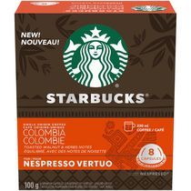 Starbucks Café Origine unique Colombie pour Nespresso Vertuo 8 unités (100 g)