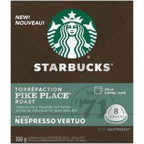 Capsules Starbucks Torréfaction Pike Place pour Nespresso Vertuo 8 unités (100 g)