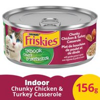 Purina® Friskies® Indoor Chunky Chicken & Turkey Casserole with Garden Greens in Gravy Cat Food