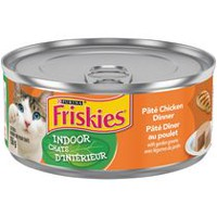 Purina® Friskies® Indoor Classic Pate Chicken Dinner with Garden Greens Cat Food