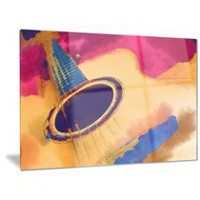 Design Art Listen to the Colourful Music Metal Wall Art 30in x 40in