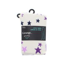 George Girls' Cotton Fashion Tights 7-9