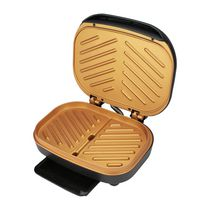 Brentwood Non-Stick 750w Indoor Electric Copper Grill and Panini Press