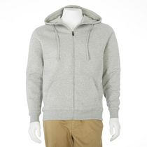 Athletic Works Men's Zippered Hoody Grey L/G