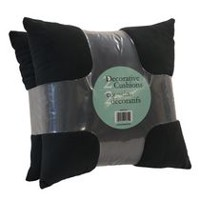 hometrends 2-Pack Supersoft  Decorative Cushions Black
