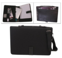 Bond Street Black ALL-IN-ONE Nylon Tablet-iPad Organizer with Writing Pad (465600BLK)