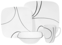 Corelle ® Square™ 16 Piece Simple Lines Dinnerware Set
