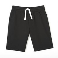 George Boys' French Terry Short Black L